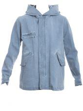 Light Blue Cotton Coat
