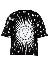 Fausto Puglisi Heart Print T-shirt