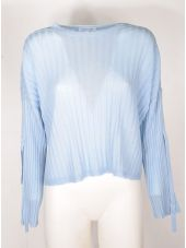 Helmut Lang Ribbed Tie Sleeve Sweater