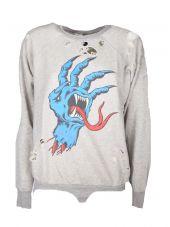 Unravel Distressed Sweatshirt