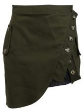 Self Portrait Utility Mini Skirt