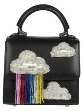 Les Petits Joueurs Clouds Applique Glittery Tote