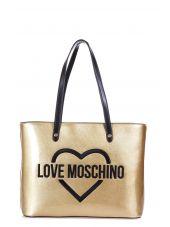 Love Moschino Logo Printed Tote Bag
