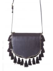 Rebecca Minkoff Multi Tassel Suede & Leather Bag