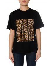 Alexander Wang Barcode Leopard Print Cotton T-shirt