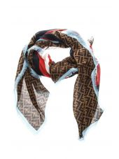 Fendi Branded Silk-wool Blend Scarf