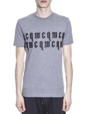 McQ Alexander McQueen Gothic Inspired Logo Embroidery T-shirt