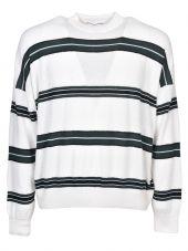 Ami Striped Boxy Sweatshirt