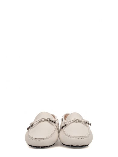 TOD'S White Heaven Leather Loafer