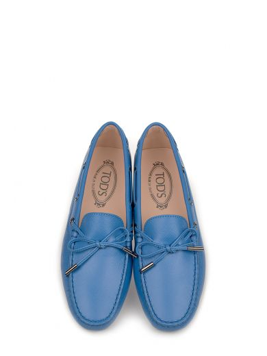 TOD'S Light Blue Heaven Leather Loafer