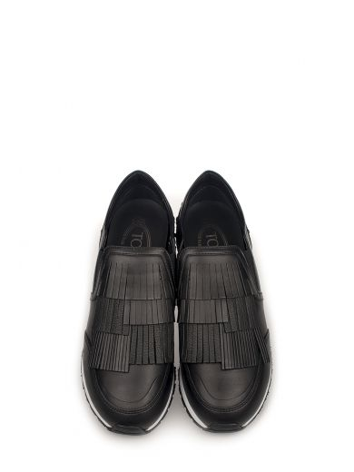 TOD'S Black Yo Slip On Leather Sneakers