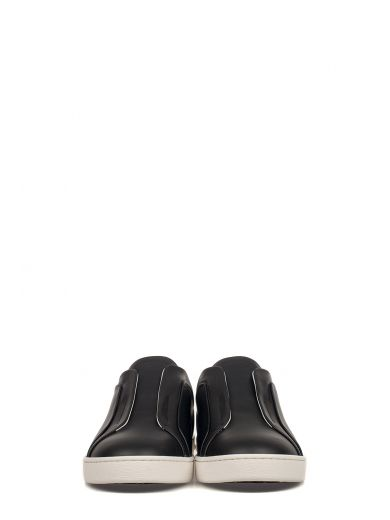 TOD'S Black Slip On Leather Sneakers