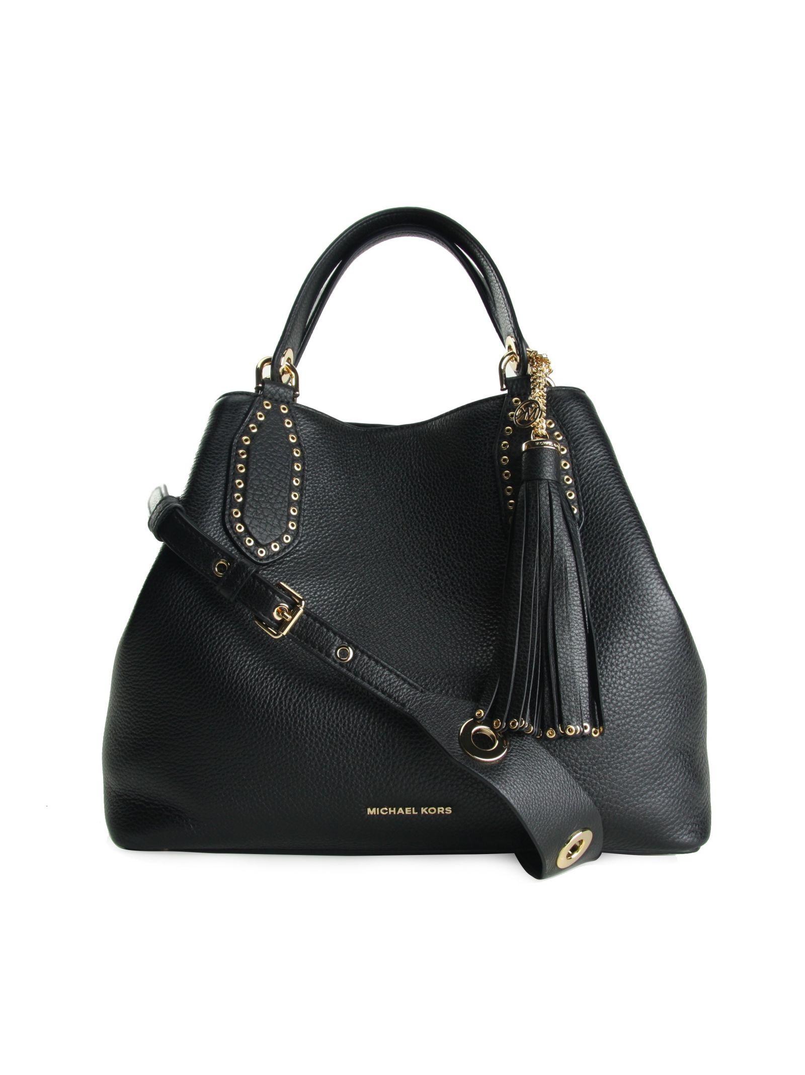 Brooklyn Large Grab Bag Michael Michael Kors Black