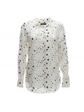Equipment White Stars Print Shirt
