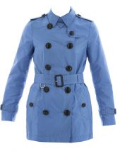 Light Blue Waterproof Trench