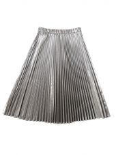 Silver Pleated Lam