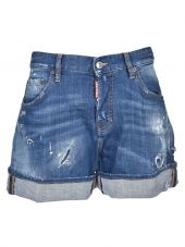 Dsquared2 Wide Denim Shorts