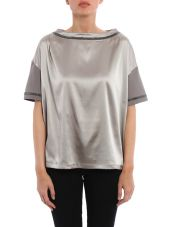 Fabiana Filippi T-shirt In Jersey And Satin