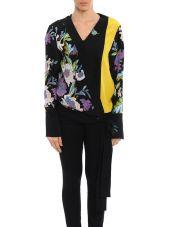 Diane Von Furstenberg Cross-shirt Silk Flowers