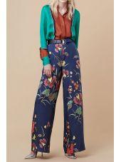 Diane Von Furstenberg Trousers Print Silk Flowers