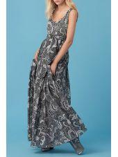 Diane Von Furstenberg Long Dress Flower Print