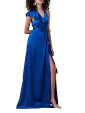 Diane Von Furstenberg Satin Wrap Dress With Ruches