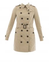 Beige Cotton Trench