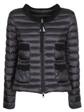 Moncler Knitted Detail Down Jacket