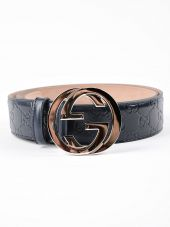 Gucci Gg Signature Leather Belt