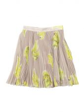 Beige Pleated Skirt With Bananas