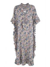 See by Chloé Lace-up Printed Cotton And Linen Caftan Dress
