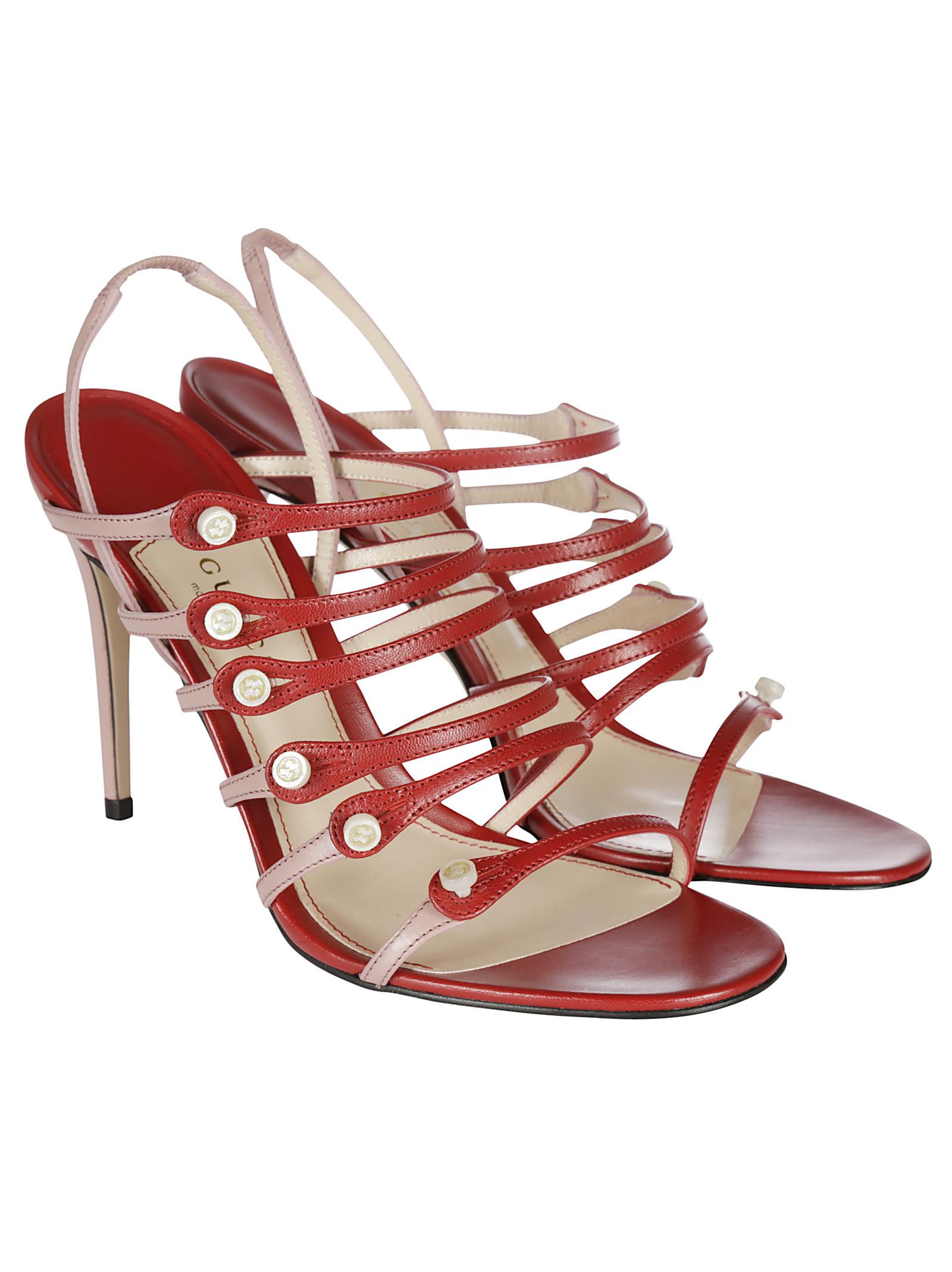 gucci female 250960 gucci leather open toe sandals