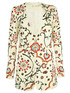 Alice+Olivia Chriselle Embroidered Long Blazer